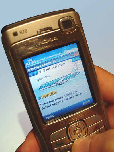 KLM Mobile internet check-in - photo Nokia