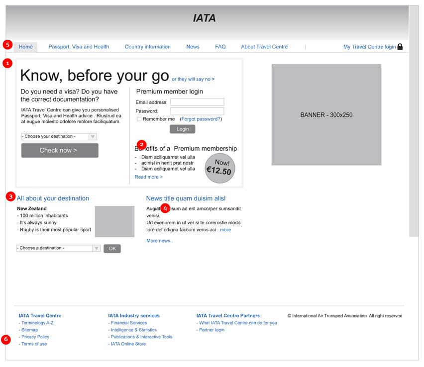 IATA Travel Centre - know, before you go - interaction design