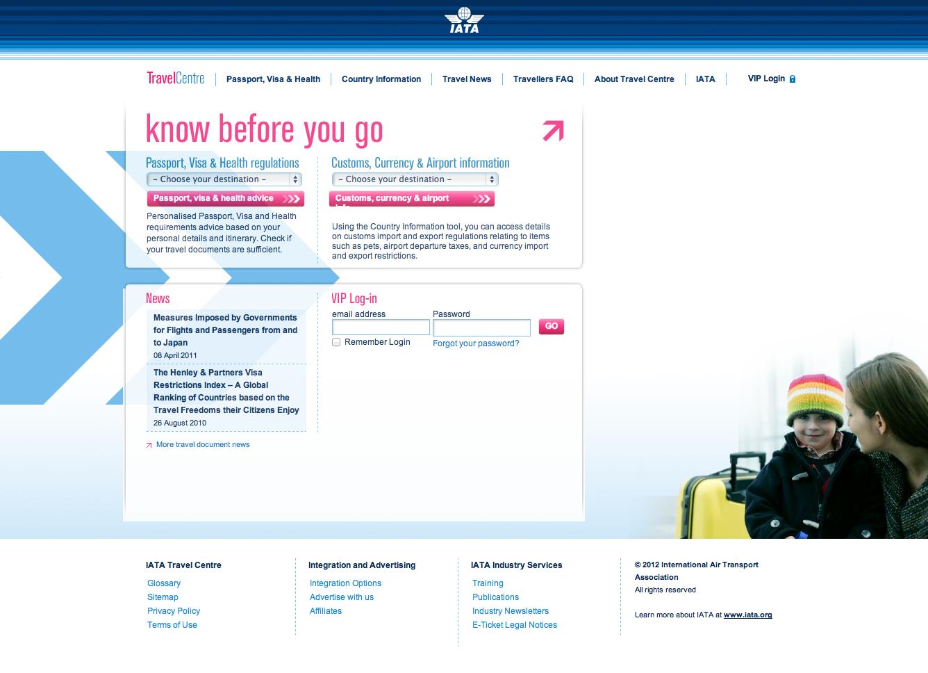 IATA Travel Centre - visual design