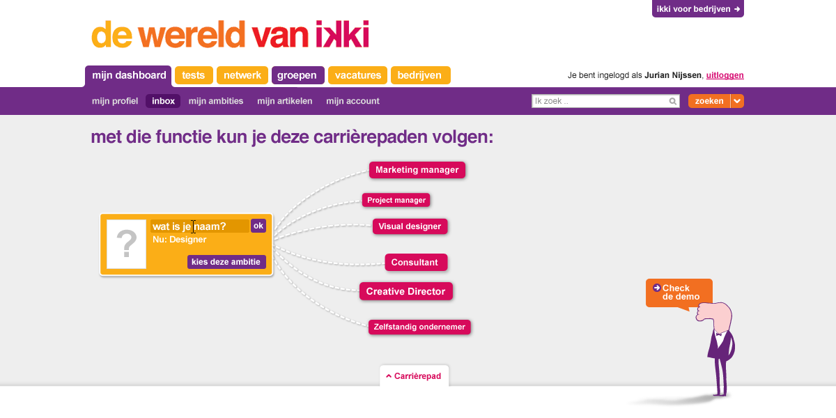 ikki career navigator - your current job title - interaction design