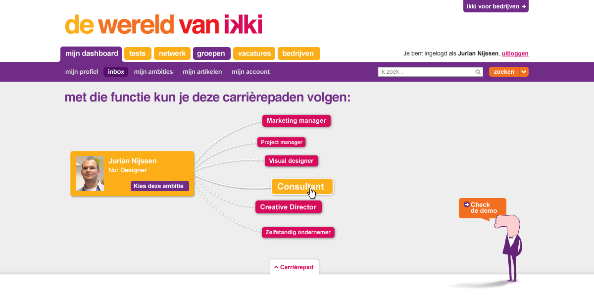 ikki career navigator - your next job opportunity - interaction design