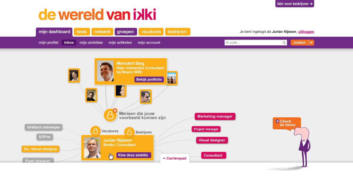 ikki career navigator - others than can help you - interaction design