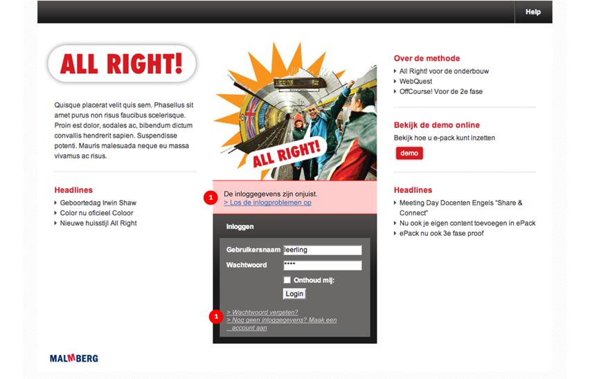 Malmberg - homepage - interaction design