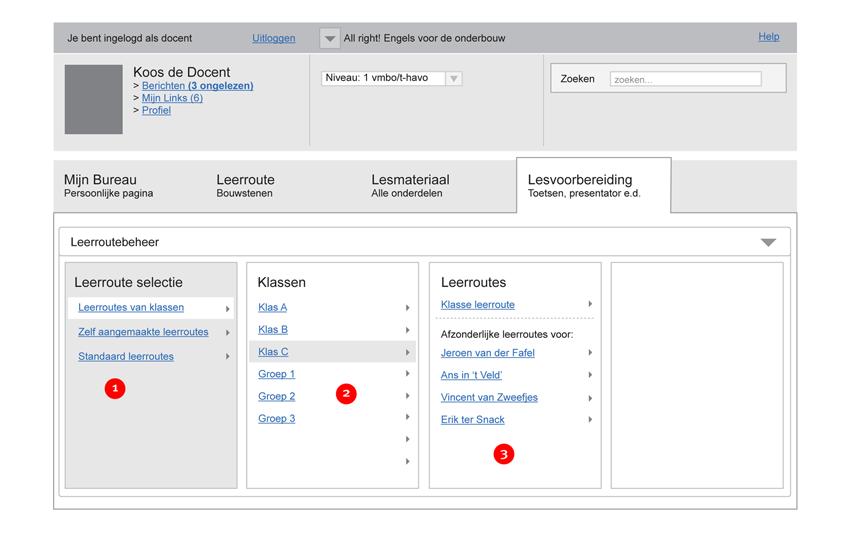 Malmberg - teacher dashboard - interaction design