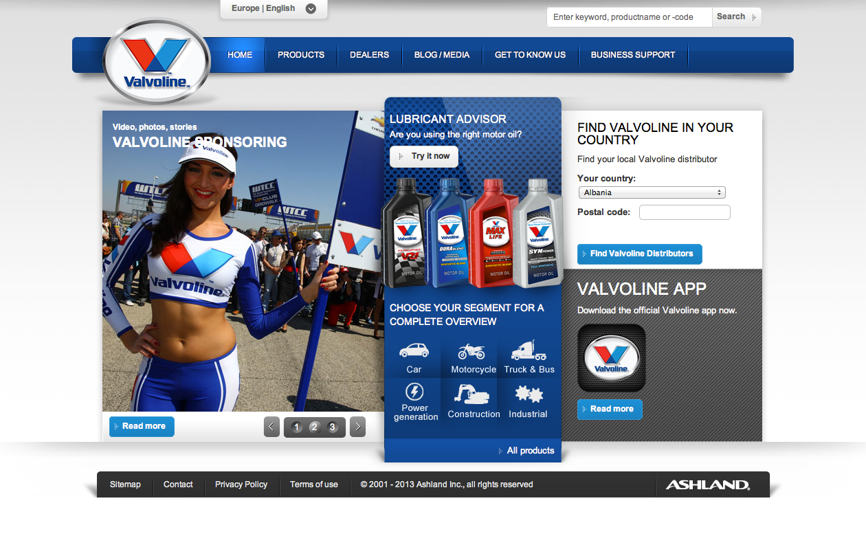 Valvoline - visual design